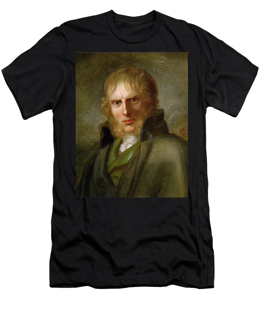 Gerhard Von K�gelgen Men's T-Shirt (Athletic Fit) featuring the painting portrait of Caspar David Friedrich by MotionAge Designs