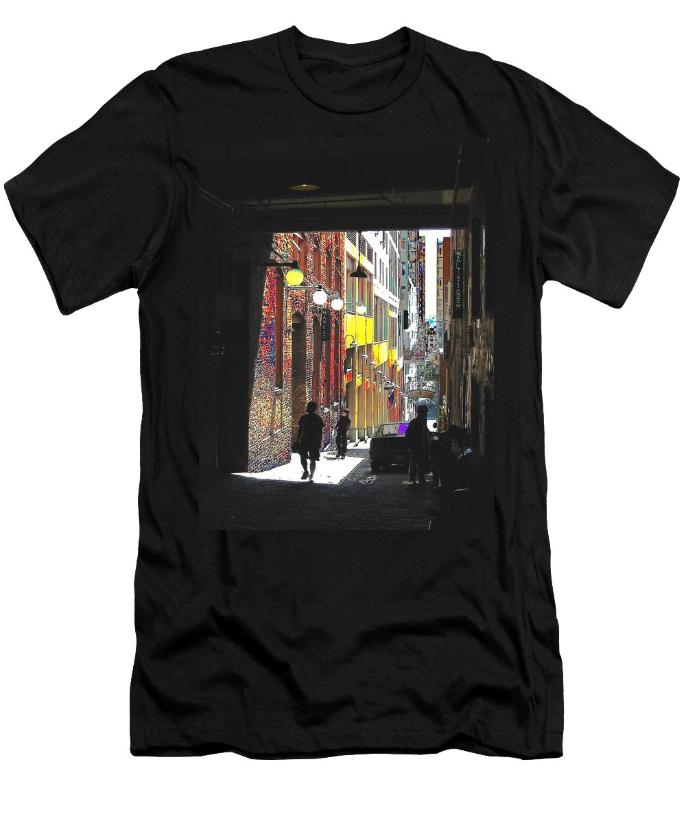 Seattle Men's T-Shirt (Athletic Fit) featuring the digital art Post Alley by Tim Allen