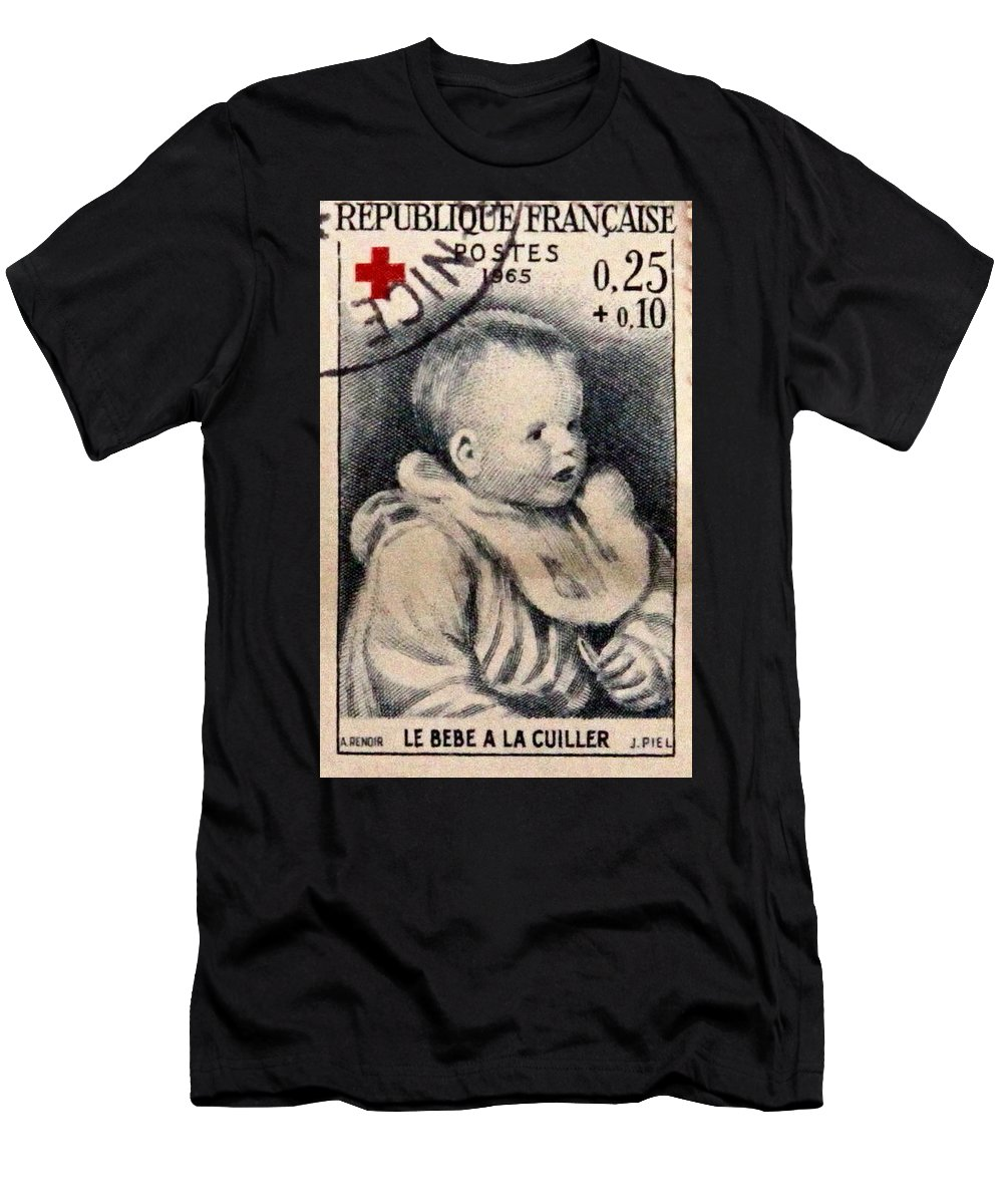 Stamp Men's T-Shirt (Athletic Fit) featuring the photograph Postage 15 by Kevin F Cook