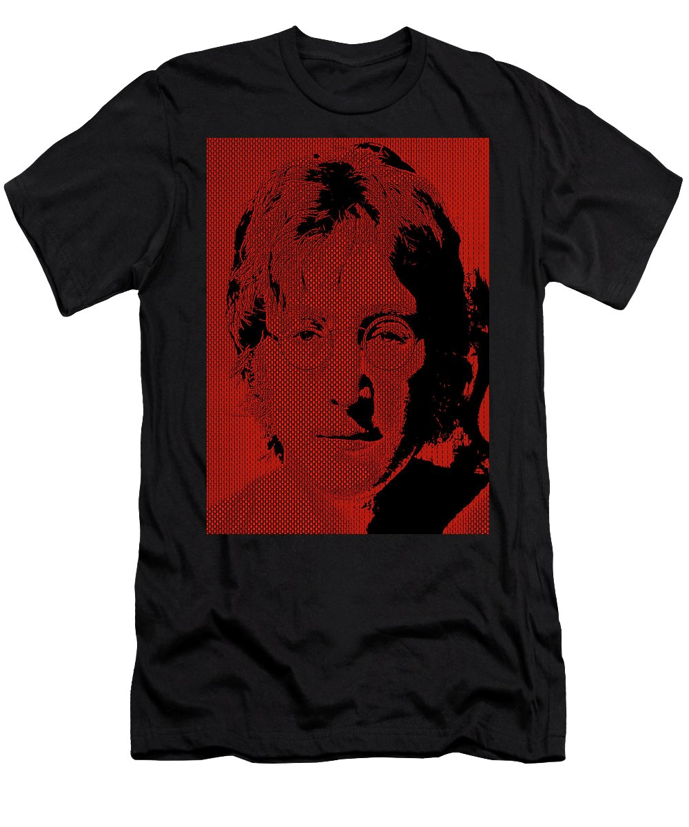 Digital Men's T-Shirt (Athletic Fit) featuring the digital art Poster Art Lennon by Andy Young