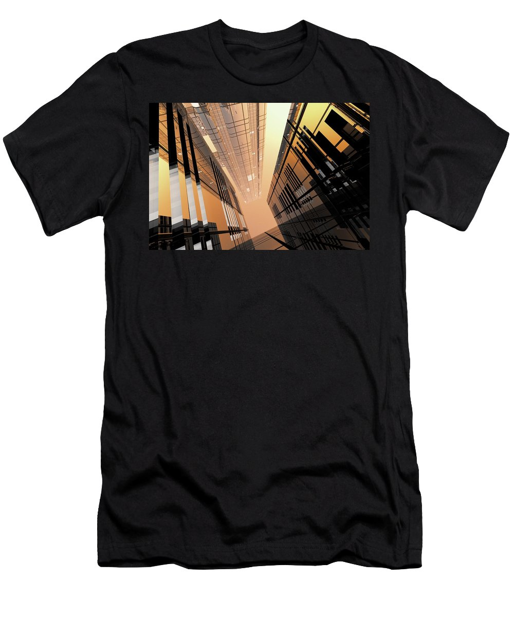 Abstractly Men's T-Shirt (Athletic Fit) featuring the digital art Poster-city 2 by Max Steinwald