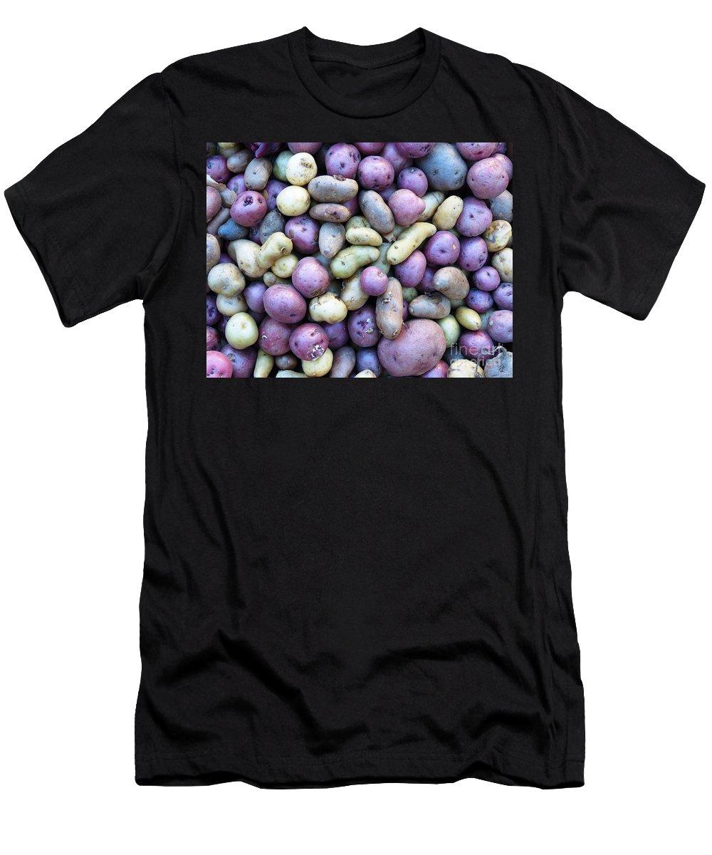 Potatoes Men's T-Shirt (Athletic Fit) featuring the photograph Potato Fest by Carlos Amaro