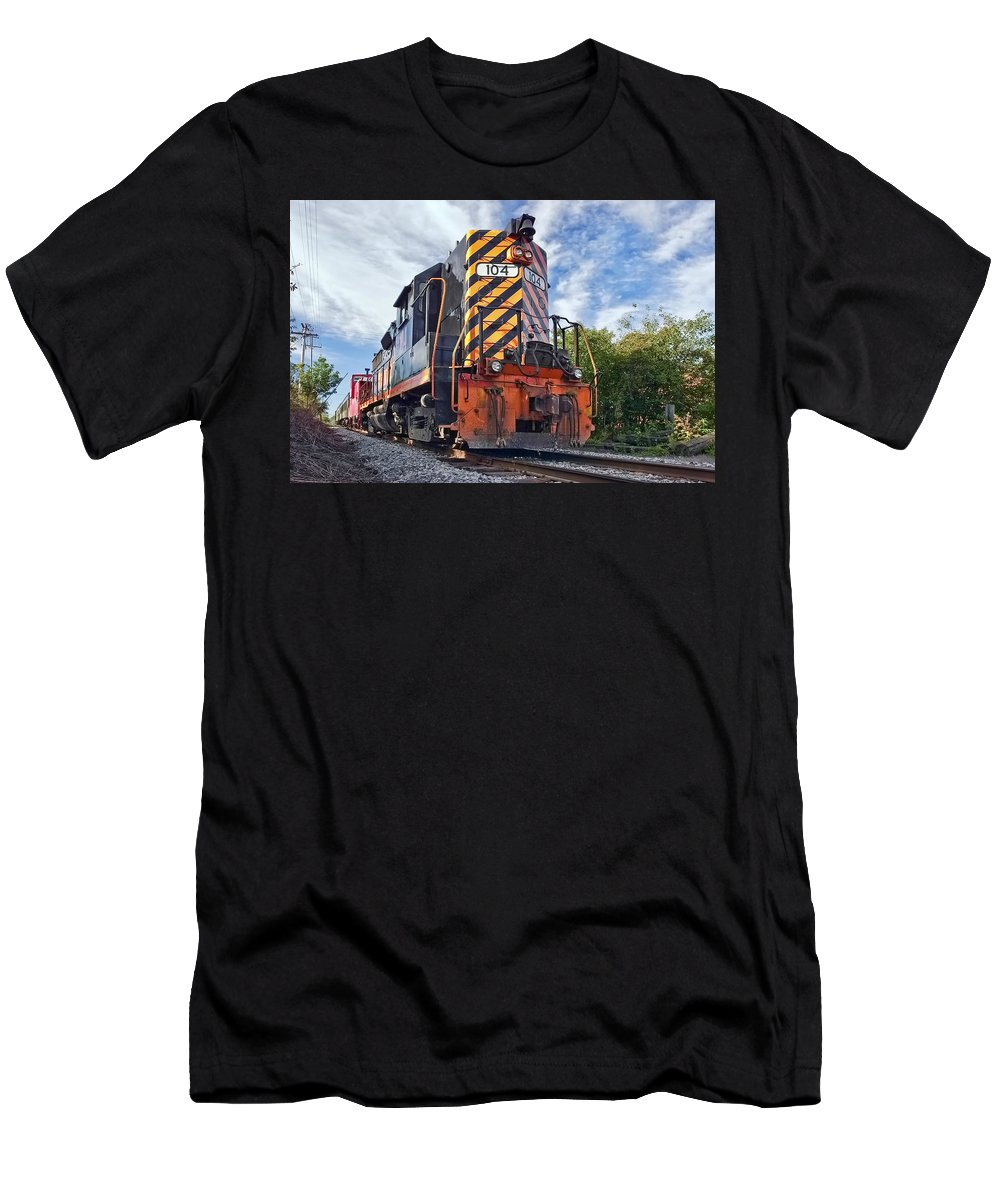 Train Men's T-Shirt (Athletic Fit) featuring the photograph Powerful by Marcia Colelli