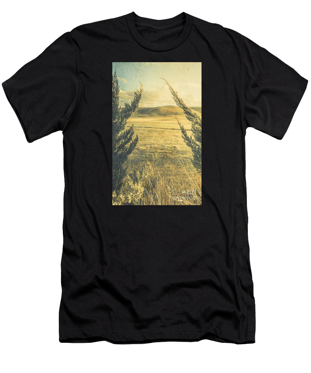 Tree Men's T-Shirt (Athletic Fit) featuring the photograph Prairie Hill by Jorgo Photography - Wall Art Gallery