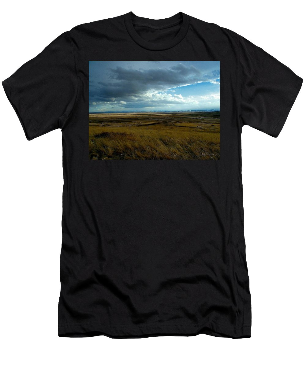 Prairie Storm Men's T-Shirt (Athletic Fit) featuring the photograph Prairie Storm by Tracey Vivar
