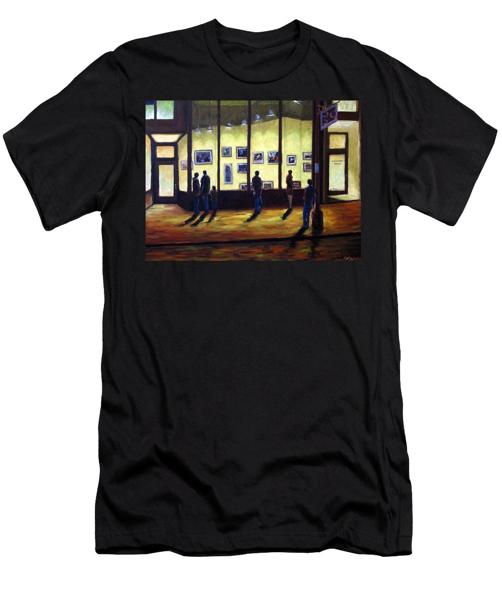 Urban Men's T-Shirt (Athletic Fit) featuring the painting Pranke by Richard T Pranke