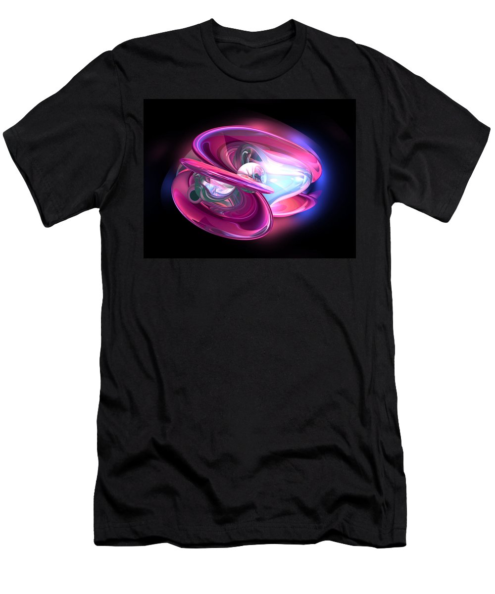 3d Men's T-Shirt (Athletic Fit) featuring the digital art Precious Pearl Abstract by Alexander Butler