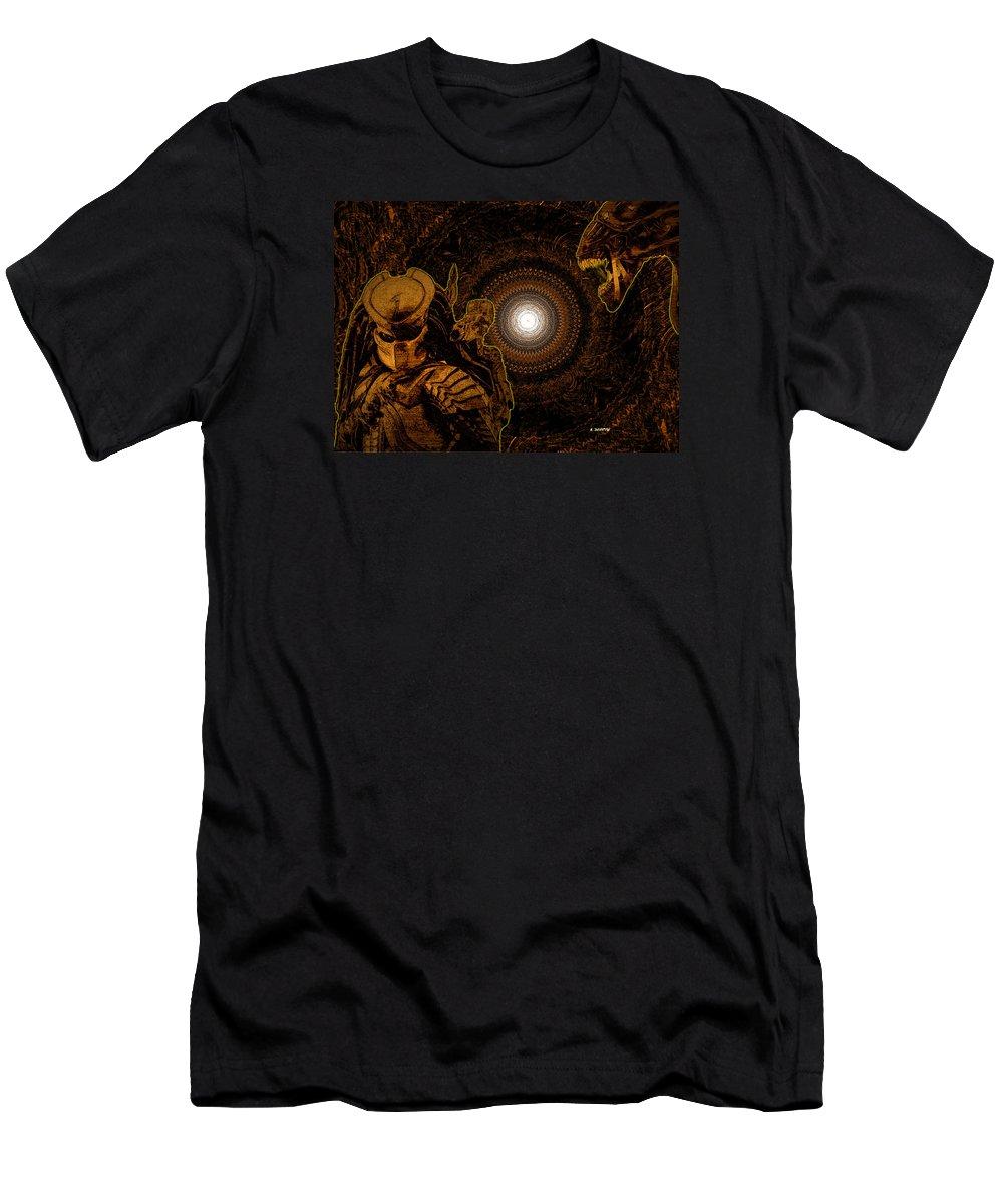 70e1e51d Alien Vs Predator Men's T-Shirt (Athletic Fit) featuring the digital art  Predator