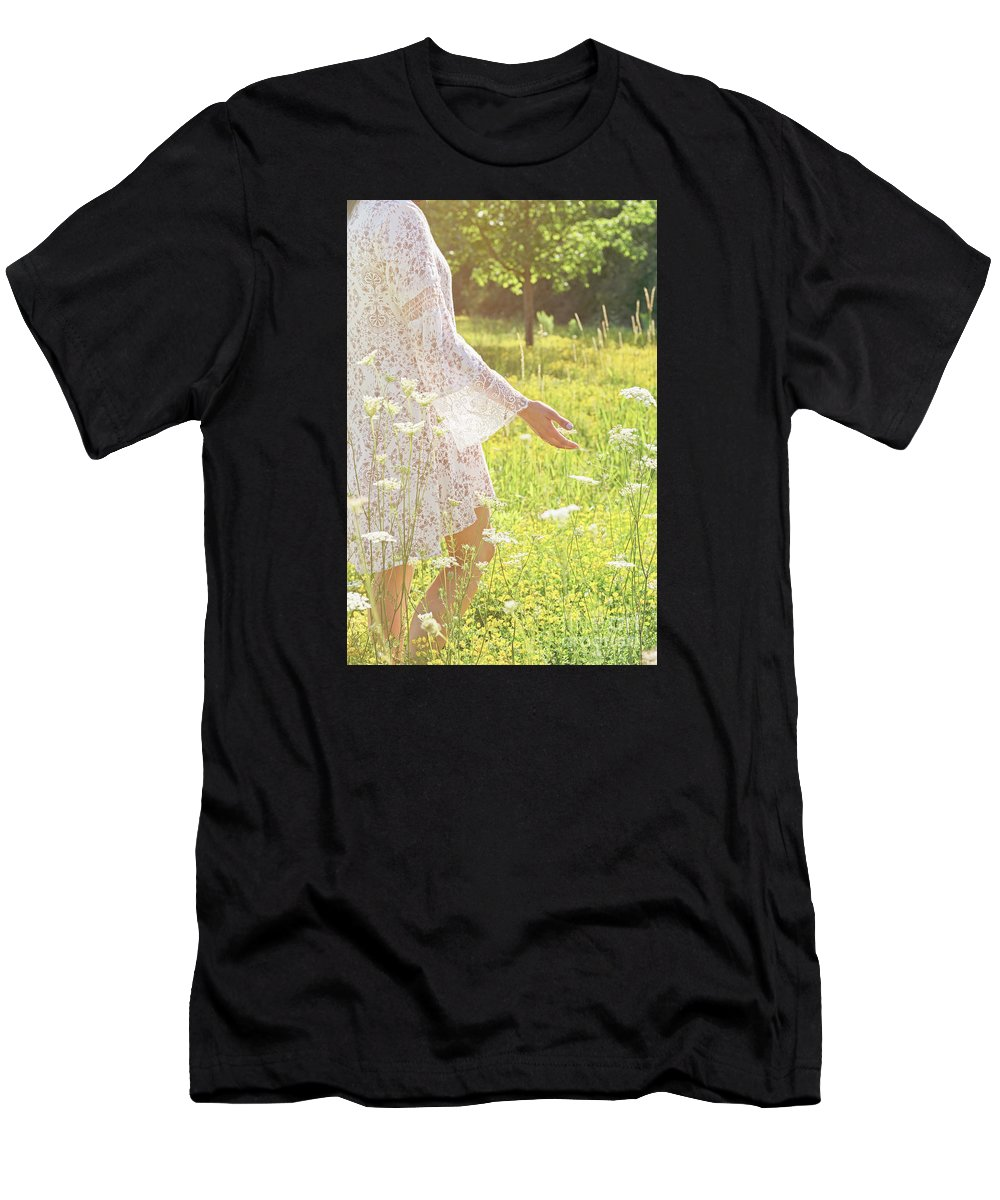 Nina Stavlund Men's T-Shirt (Athletic Fit) featuring the photograph Present Moment.. by Nina Stavlund