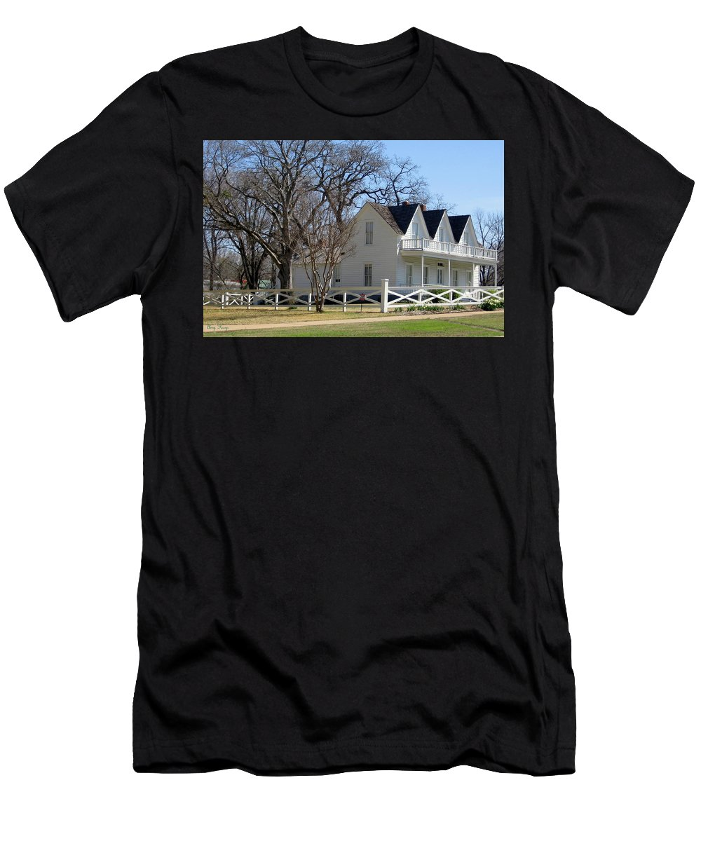 President Dewight Eisenhower Birthplace Men's T-Shirt (Athletic Fit) featuring the photograph President Dewight Eisenhower Birthplace by Amy Hosp