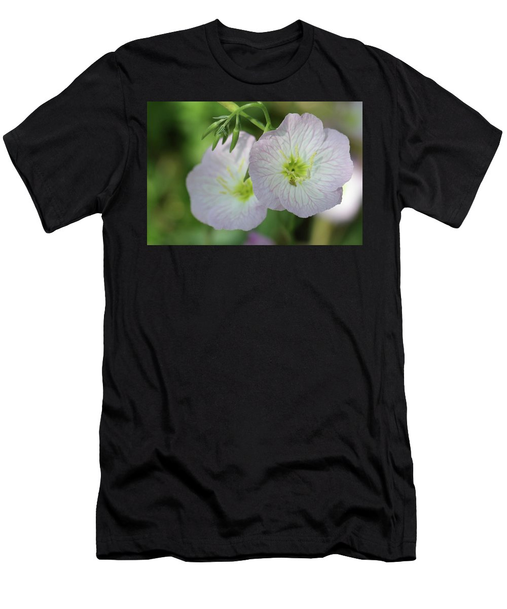 Flowers Men's T-Shirt (Athletic Fit) featuring the photograph Pretty Little Flowers by Nancy Aurand-Humpf