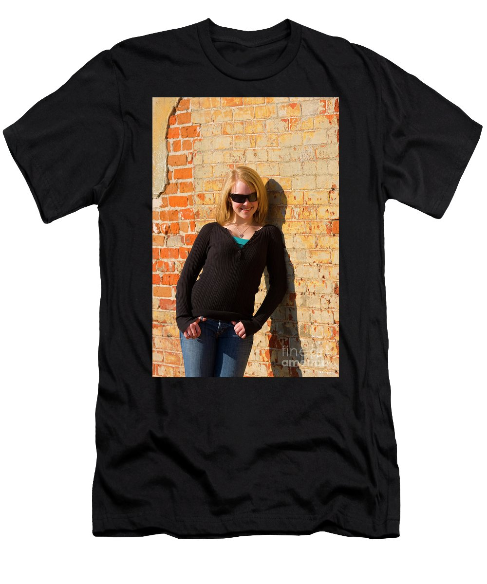 Casual Men's T-Shirt (Athletic Fit) featuring the photograph Pretty Teen In Jeans by Steve Krull