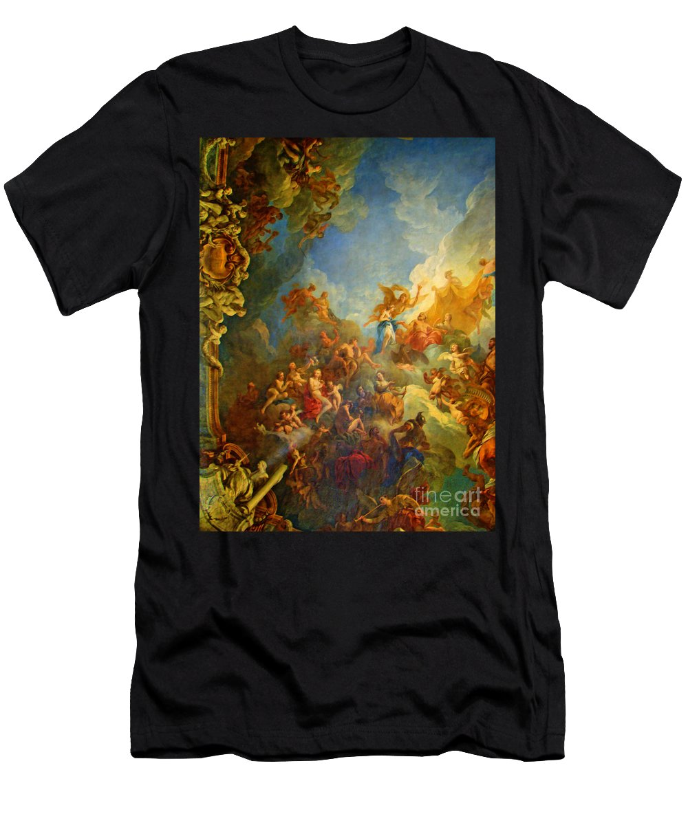 Versailles Men's T-Shirt (Athletic Fit) featuring the photograph Priceless Art In Versailles by Al Bourassa