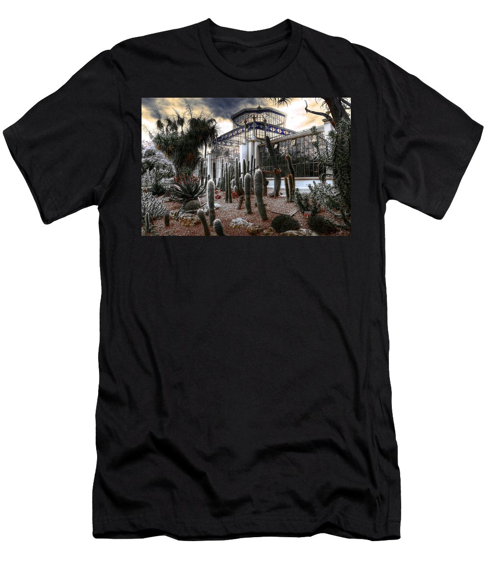 Plants Men's T-Shirt (Athletic Fit) featuring the photograph Pricklyscape by Wayne Sherriff