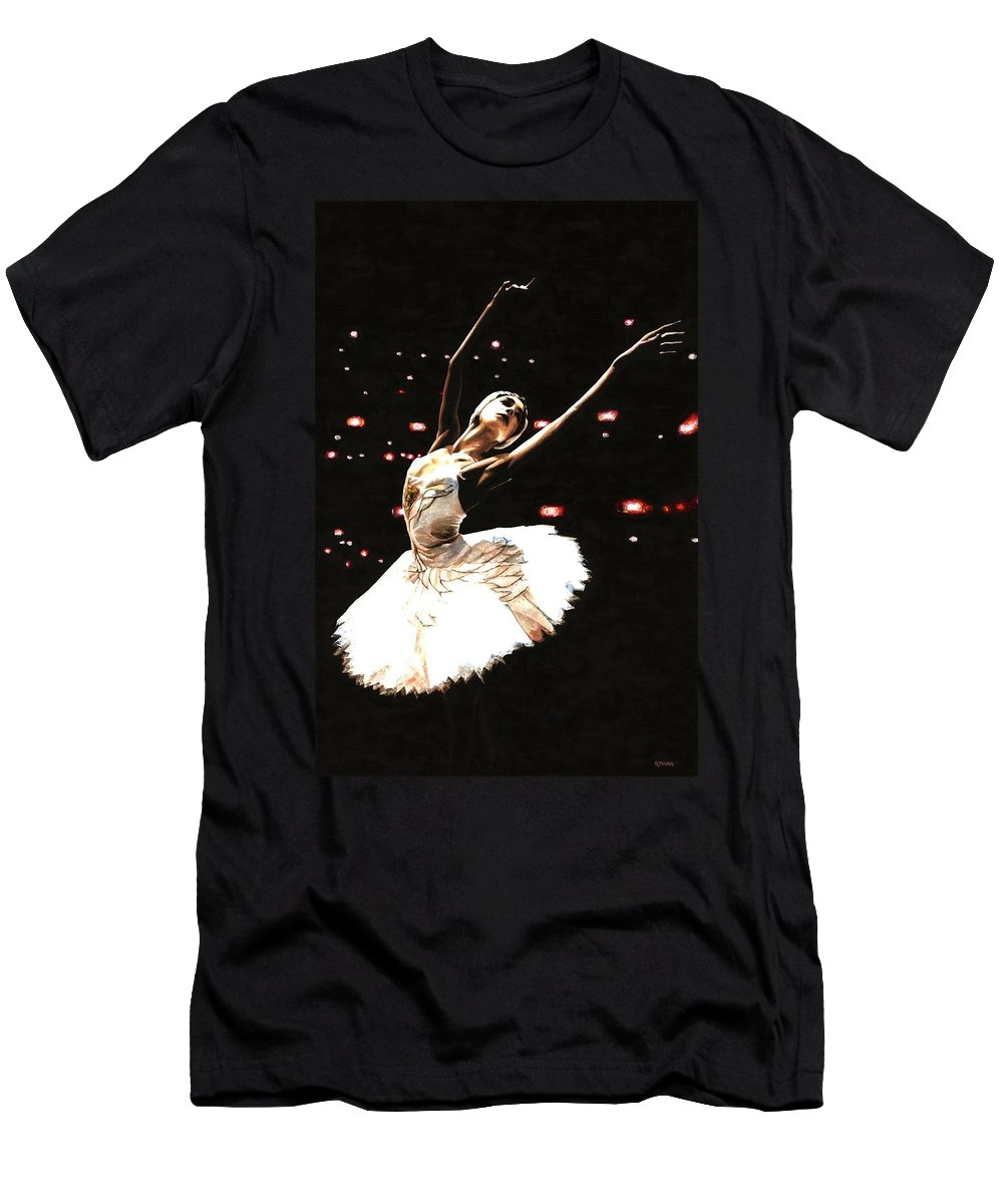 Prima Ballerina Men's T-Shirt (Athletic Fit) featuring the painting Prima Ballerina by Richard Young