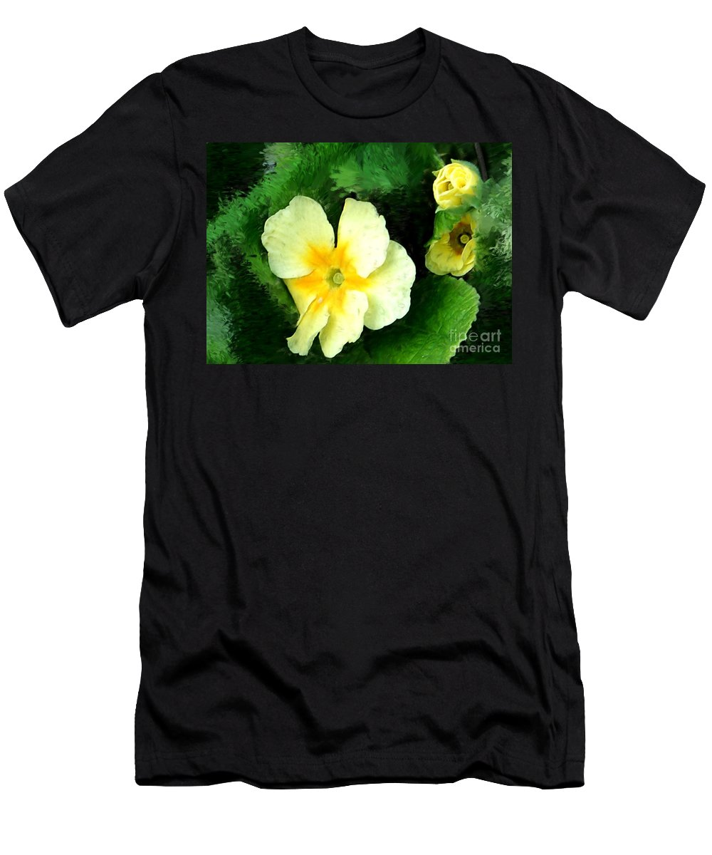 Digital Photograph Men's T-Shirt (Athletic Fit) featuring the photograph Primrose 2 by David Lane
