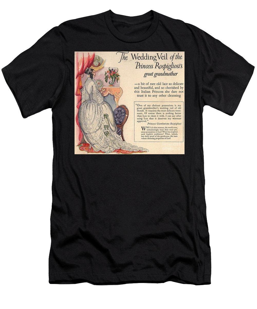 Princess Rospigliosi Men's T-Shirt (Athletic Fit) featuring the digital art Princess Rospigliosi Ephemera Vintage by Anne Kitzman