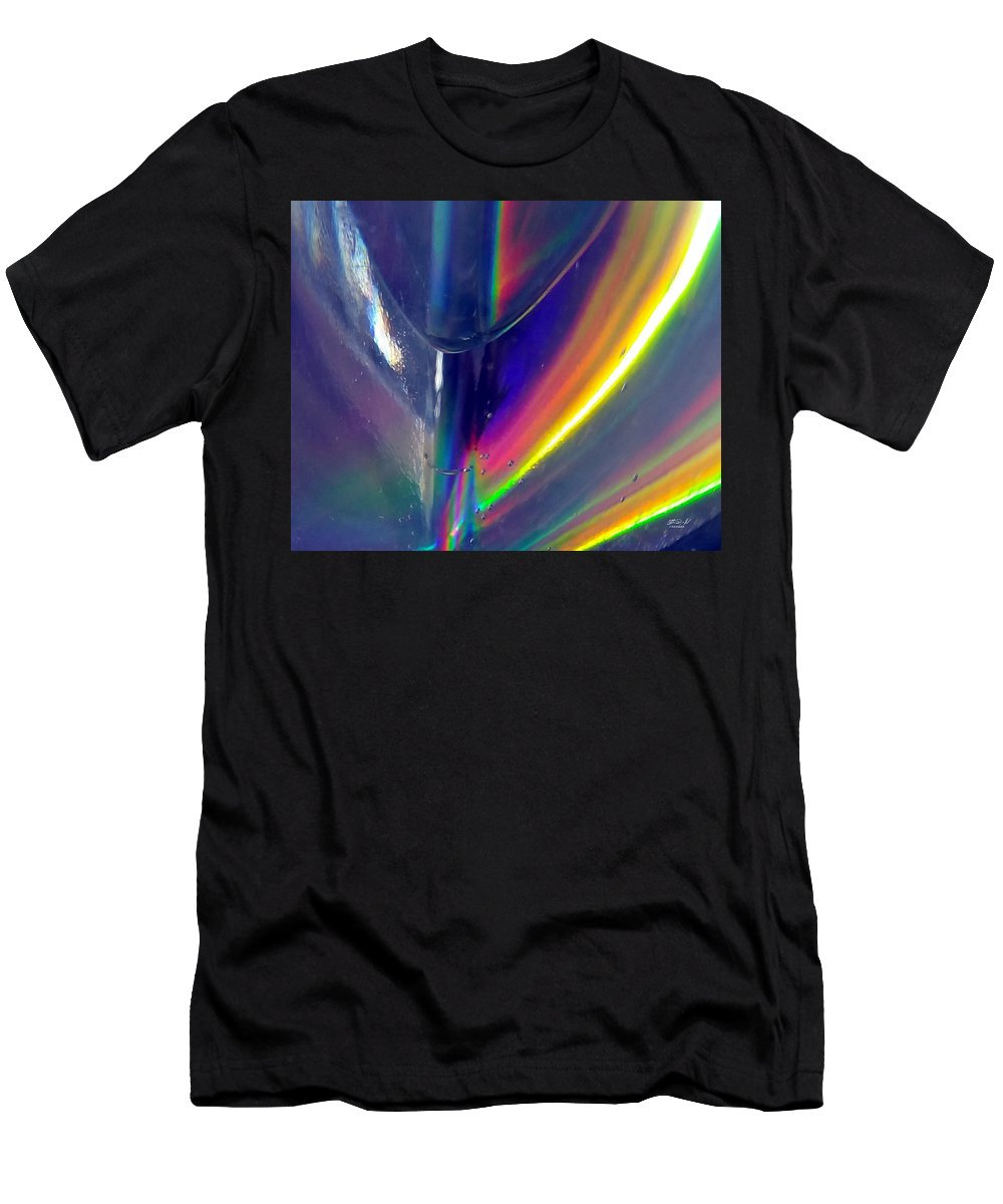 Prism Men's T-Shirt (Athletic Fit) featuring the photograph Prism Waves I by Rob Mandell