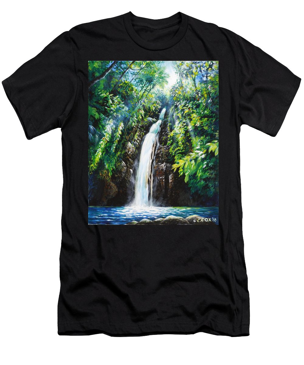 Chris Cox Men's T-Shirt (Athletic Fit) featuring the painting Pristine by Christopher Cox