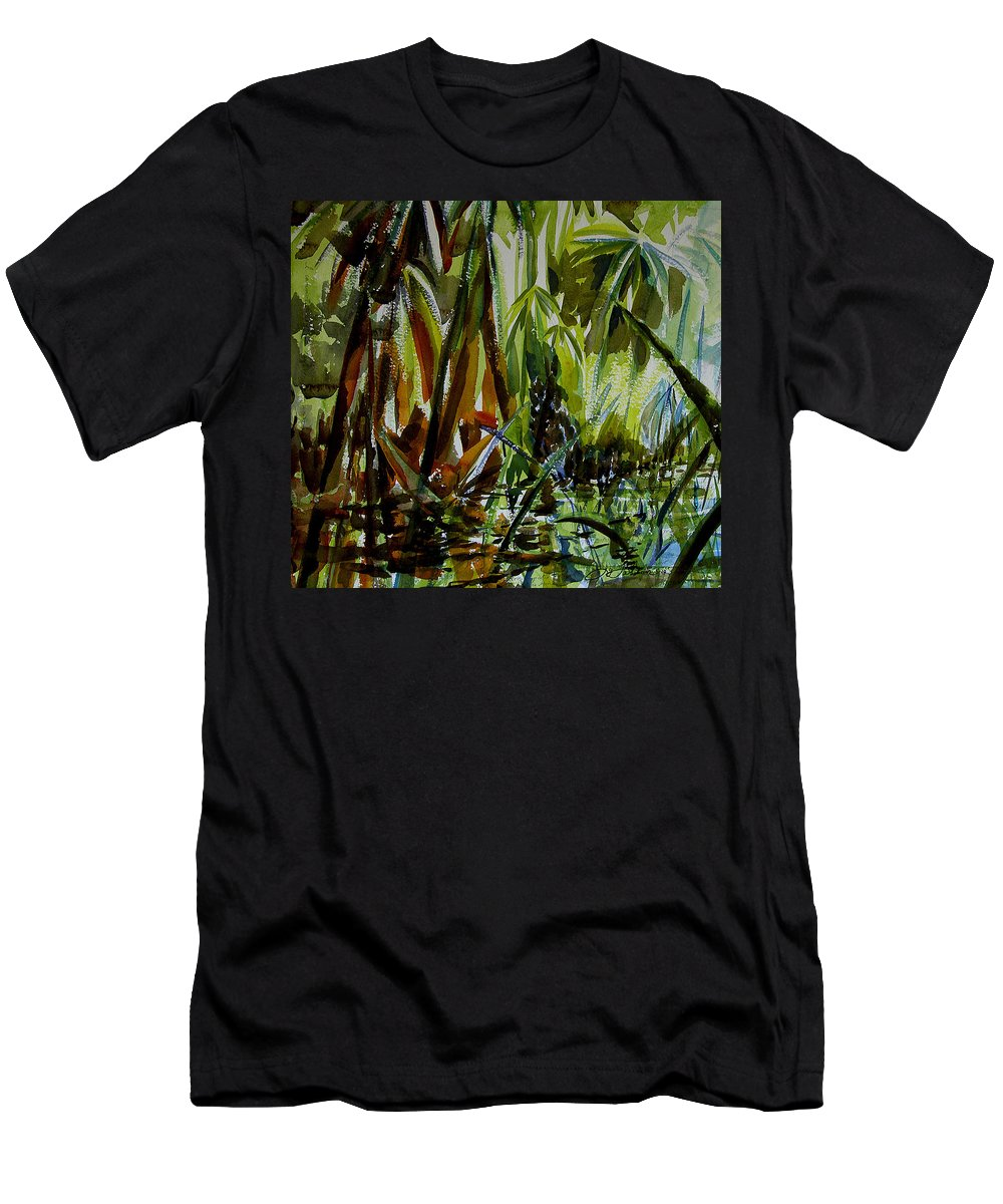 Framed Prints Men's T-Shirt (Athletic Fit) featuring the painting Pristine Waters by Julianne Felton