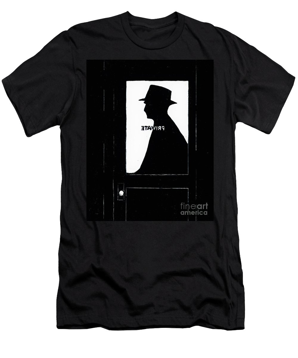 #filmnoir #1940's #art #allisonsartwork #allisonconstantino Men's T-Shirt (Athletic Fit) featuring the painting Private Eye by Allison Constantino