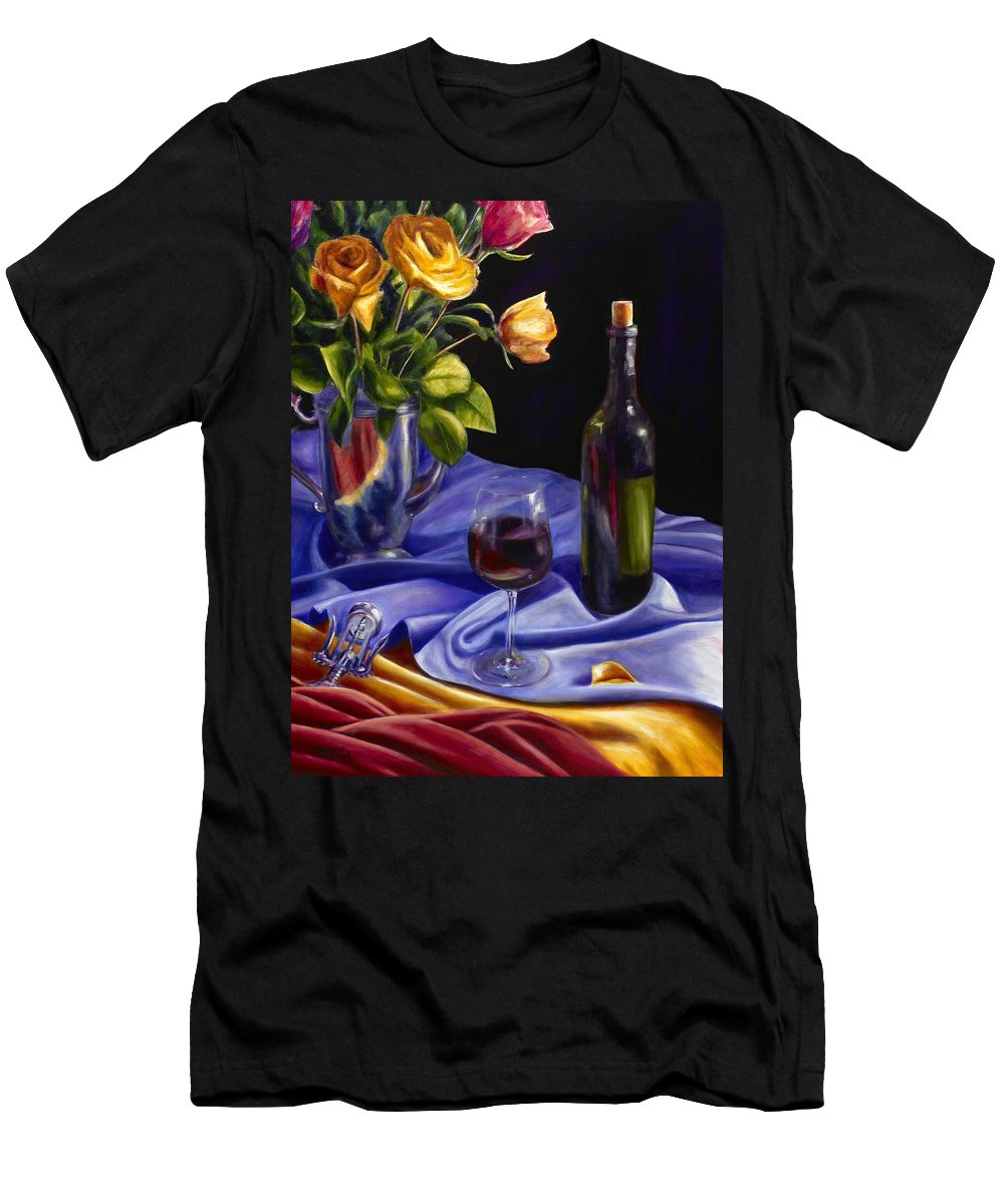Still Life Men's T-Shirt (Athletic Fit) featuring the painting Private Label by Shannon Grissom
