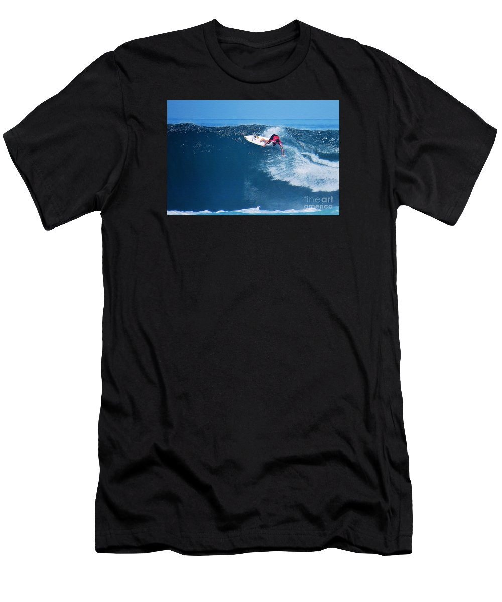 Professional-surfer-surfers Men's T-Shirt (Athletic Fit) featuring the photograph Pro Surfer Alex Ribeiro-6 by Scott Cameron