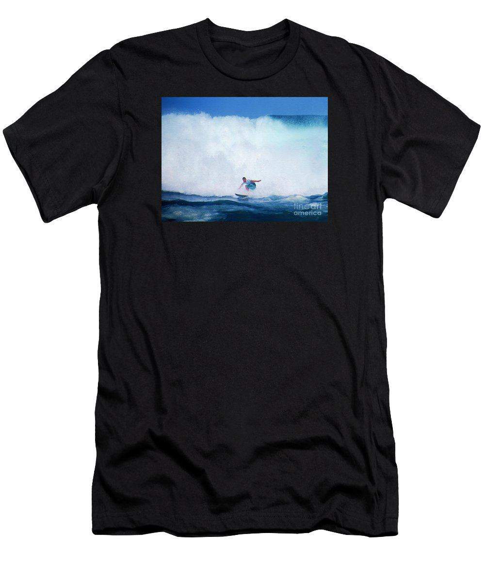 Professional-surfer-surfers Men's T-Shirt (Athletic Fit) featuring the photograph Pro Surfer Gabe King -6 by Scott Cameron