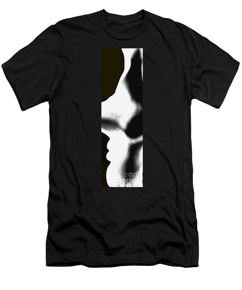 Abstract Men's T-Shirt (Athletic Fit) featuring the photograph Profiles by Amanda Barcon
