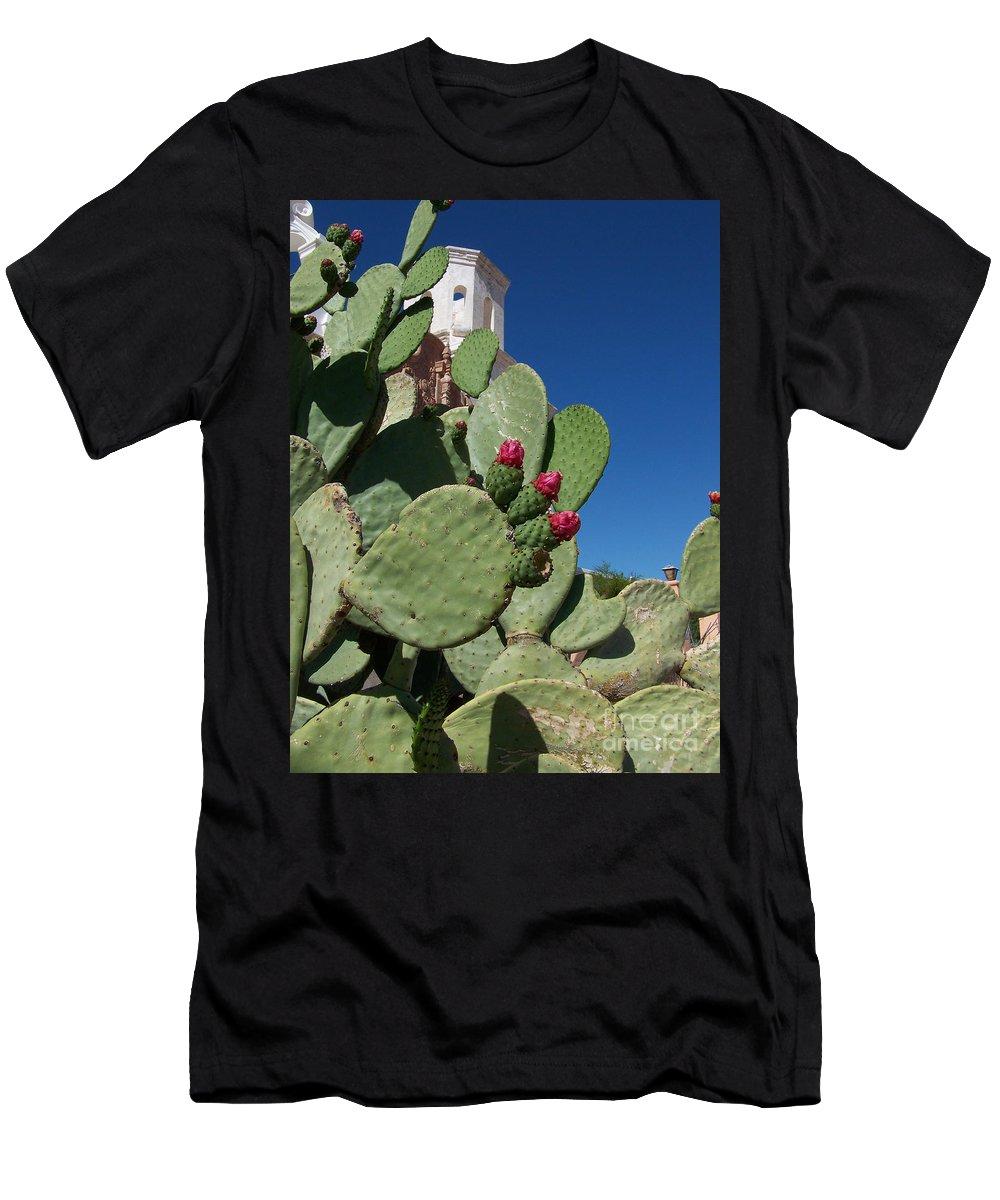 Cactus Men's T-Shirt (Athletic Fit) featuring the photograph Promesas Cumplidas by Kathy McClure