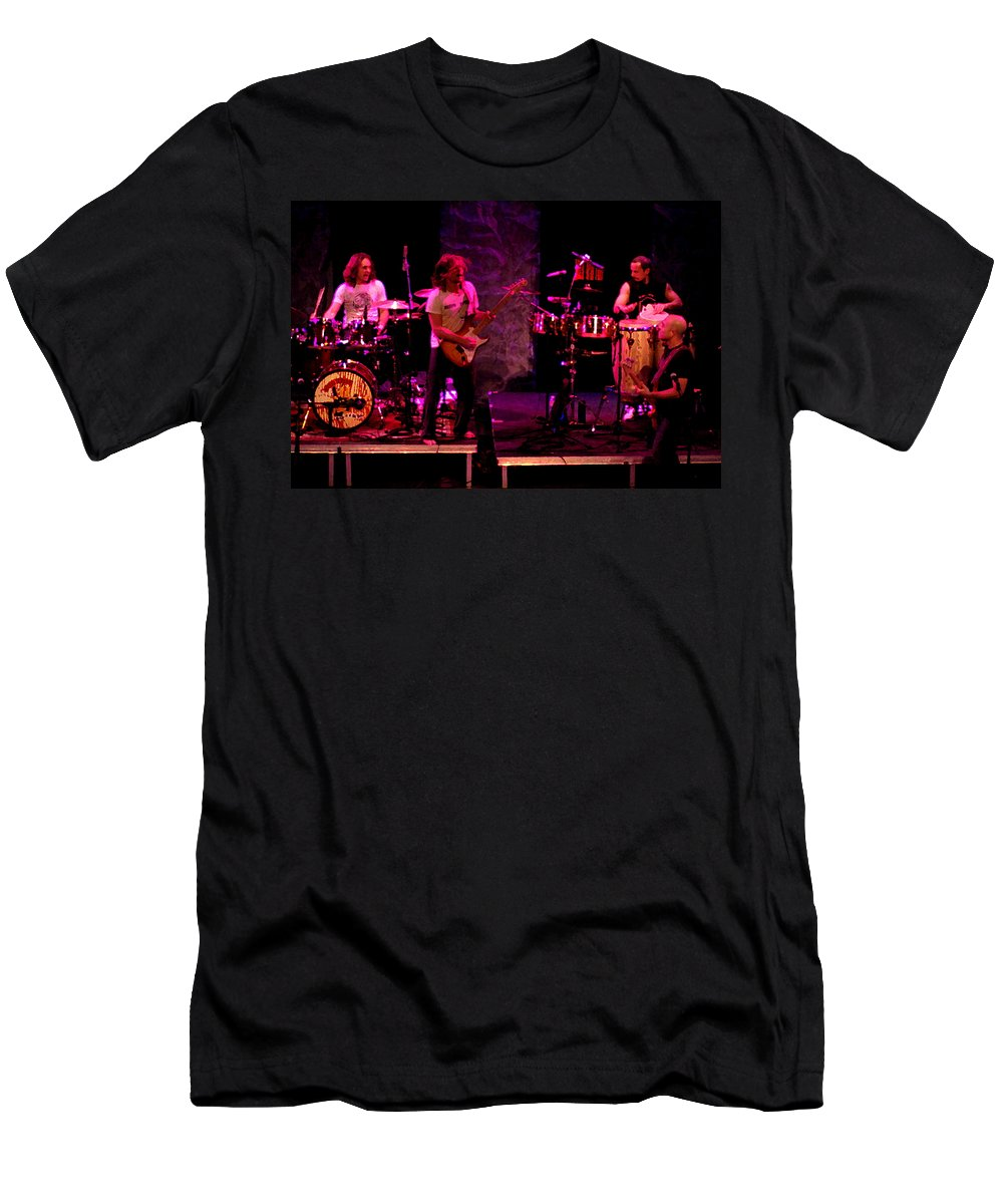 Lukas Nelson Men's T-Shirt (Athletic Fit) featuring the photograph Promise Of The Real Rock Art by Ben Upham