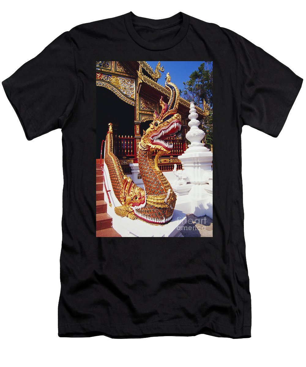 Afternoon Men's T-Shirt (Athletic Fit) featuring the photograph Protective Serpent (naga) by Bill Brennan - Printscapes
