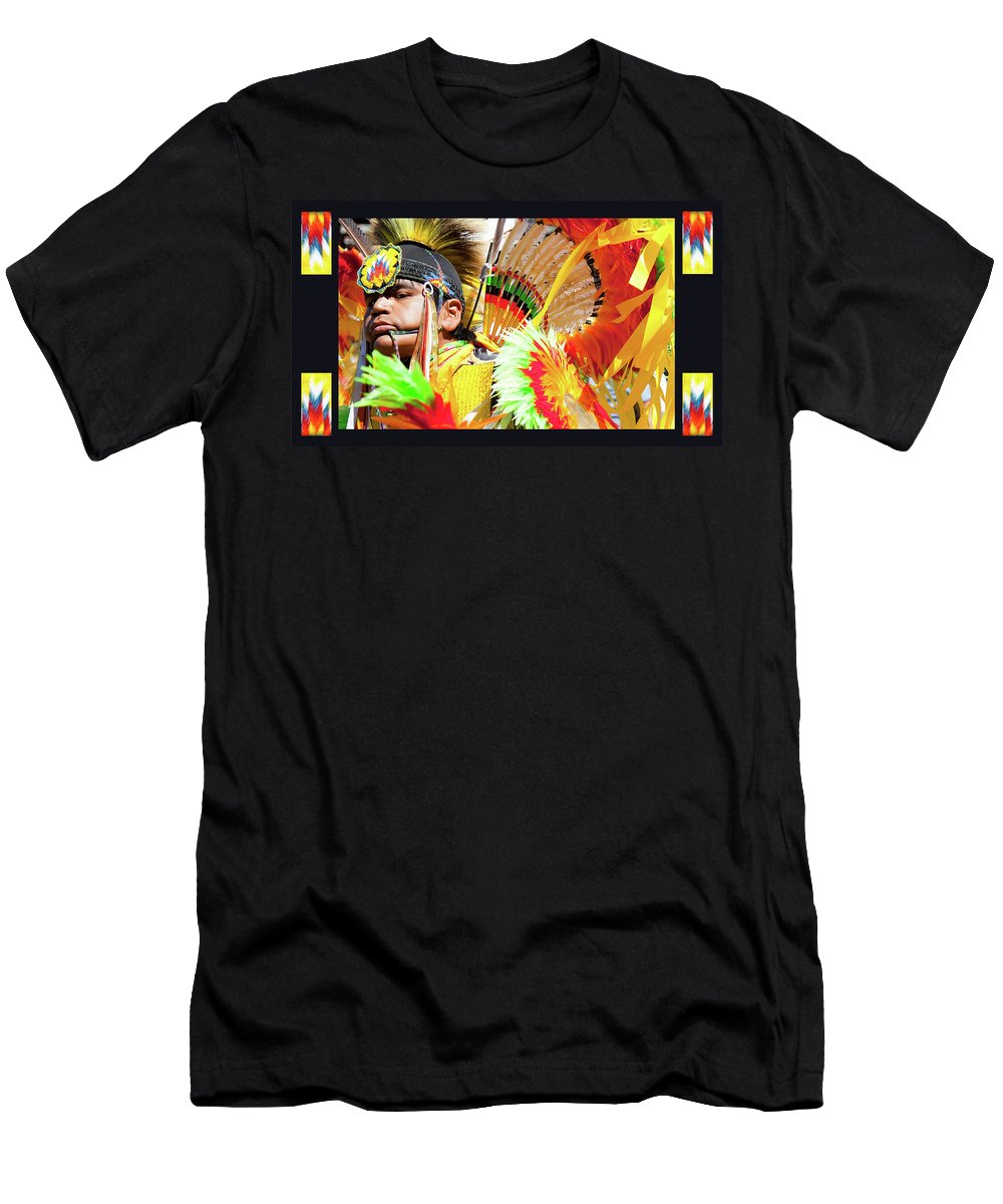 Native American Men's T-Shirt (Athletic Fit) featuring the photograph Proud To Dance by Theresa Tahara