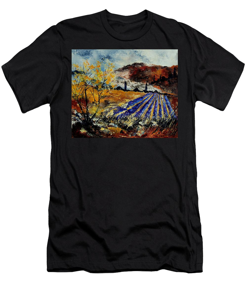 Provence Men's T-Shirt (Athletic Fit) featuring the painting Provence 564578 by Pol Ledent