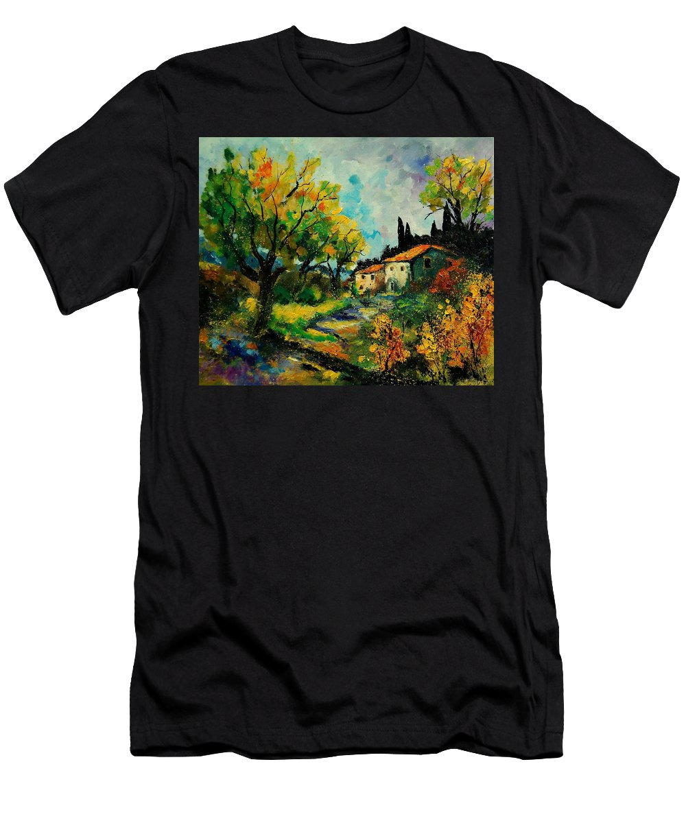 Landscape T-Shirt featuring the painting Provence 670110 by Pol Ledent