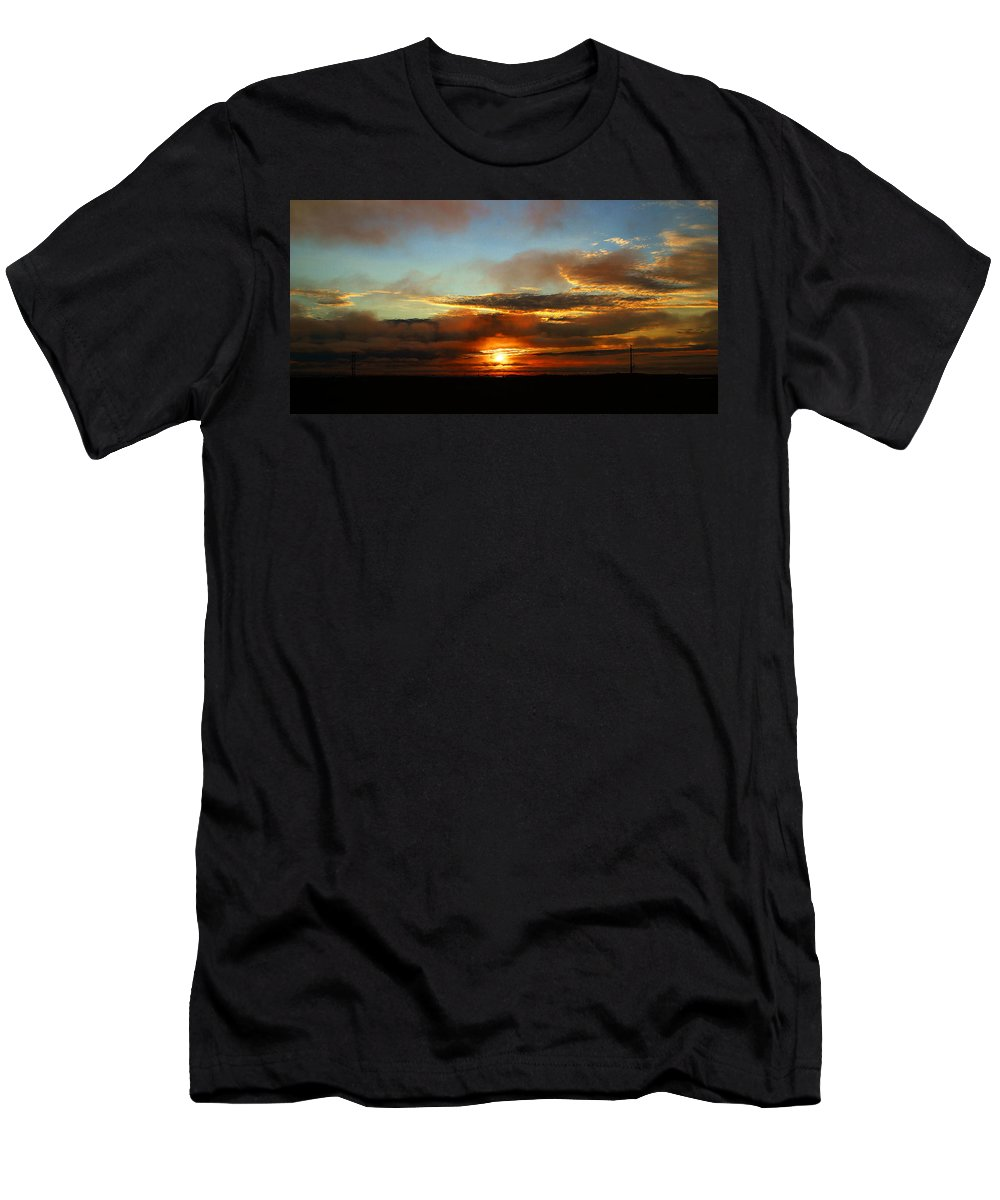 Sunset Men's T-Shirt (Athletic Fit) featuring the photograph Prudhoe Bay Sunset by Anthony Jones