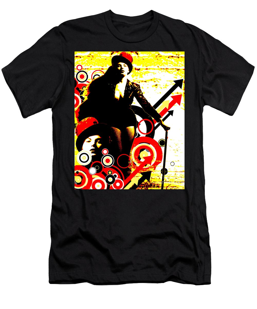 Nostalgic Seduction Men's T-Shirt (Athletic Fit) featuring the digital art Prurient Performer by Chris Andruskiewicz