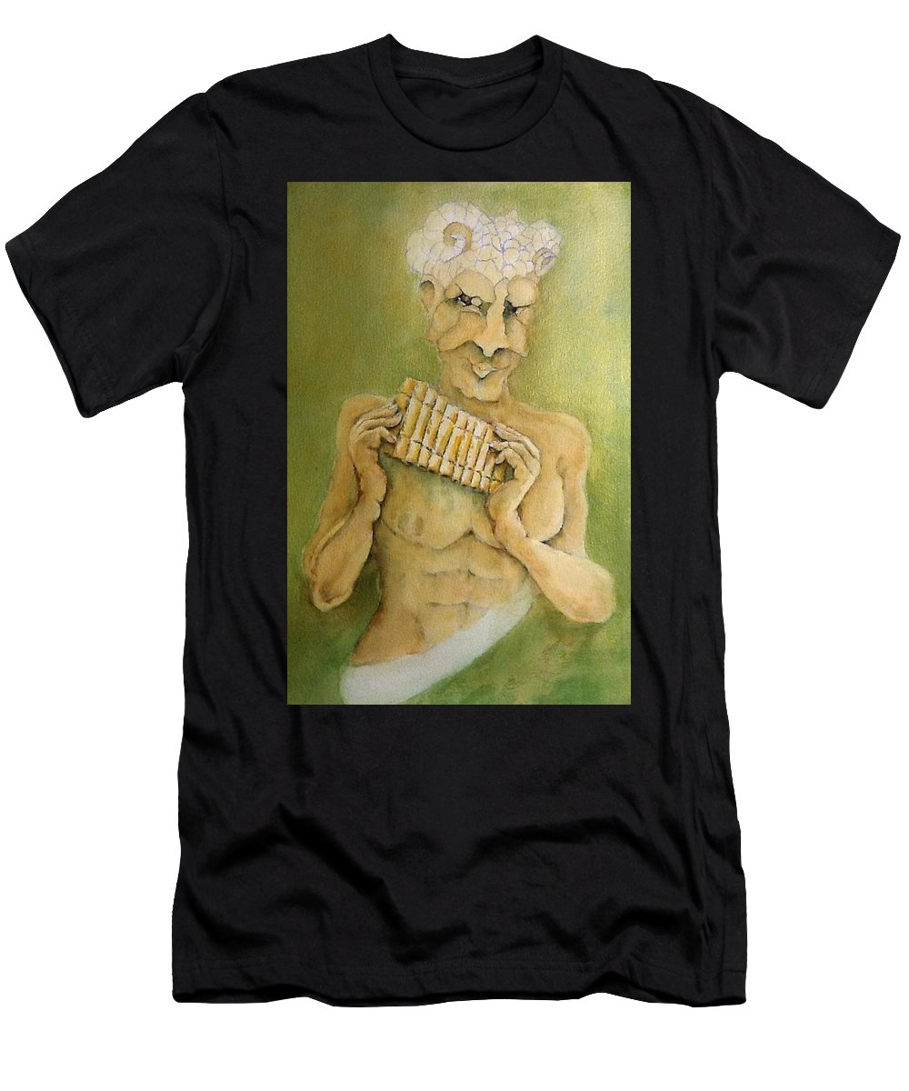 Men's T-Shirt (Athletic Fit) featuring the painting Puck by Michael Rome