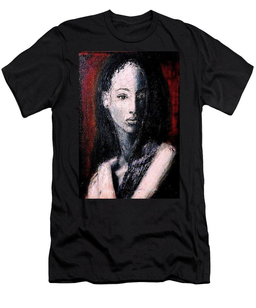Portrait Art Men's T-Shirt (Athletic Fit) featuring the painting Pulsar by Jarmo Korhonen aka Jarko