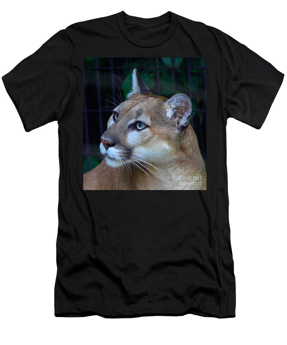 Puma Men's T-Shirt (Athletic Fit) featuring the photograph Puma-2 by Robert Pearson