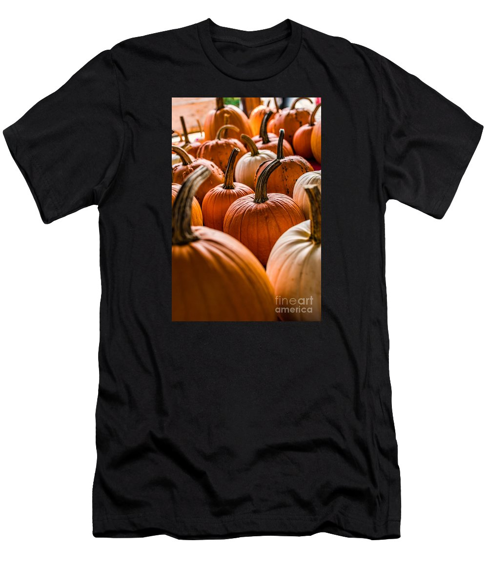 Autum Men's T-Shirt (Athletic Fit) featuring the photograph Pumpkin Harvest by Scott Chimber