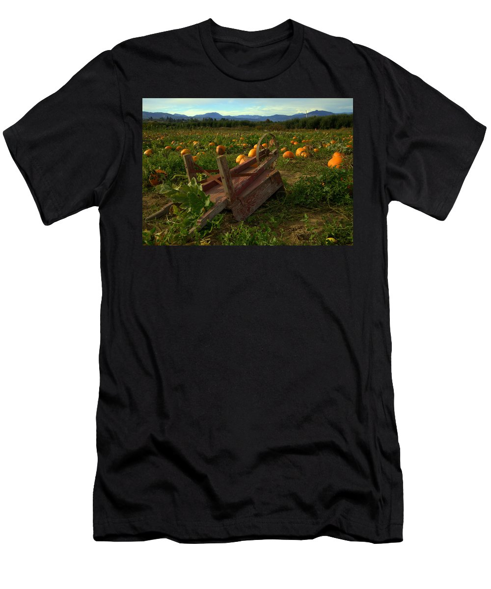 Pumpkin Men's T-Shirt (Athletic Fit) featuring the photograph Pumpkin Patch. by Spirit Vision Photography