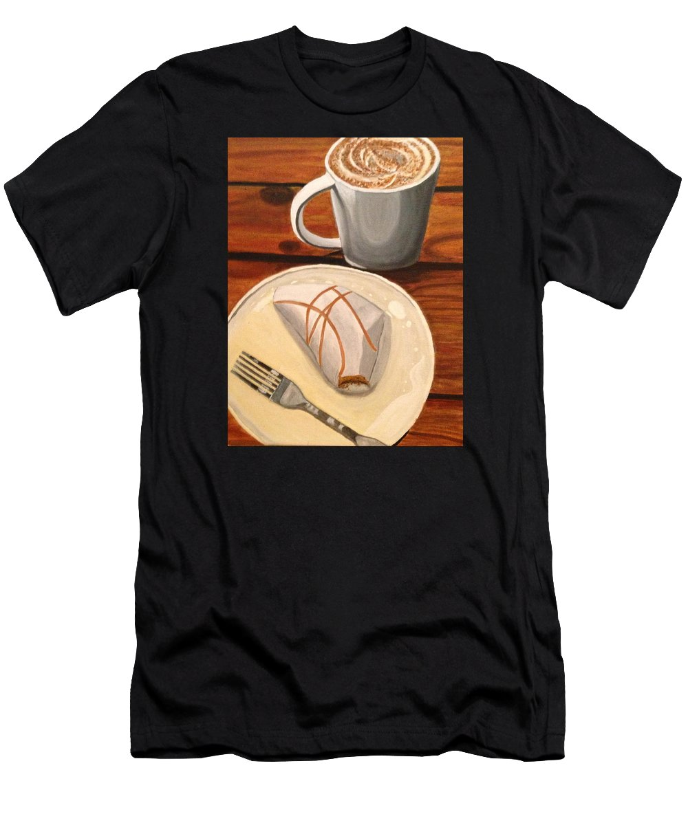 Coffee Men's T-Shirt (Athletic Fit) featuring the painting Pumpkin Scone And Pumpkin Latte by Lauren Ullrich