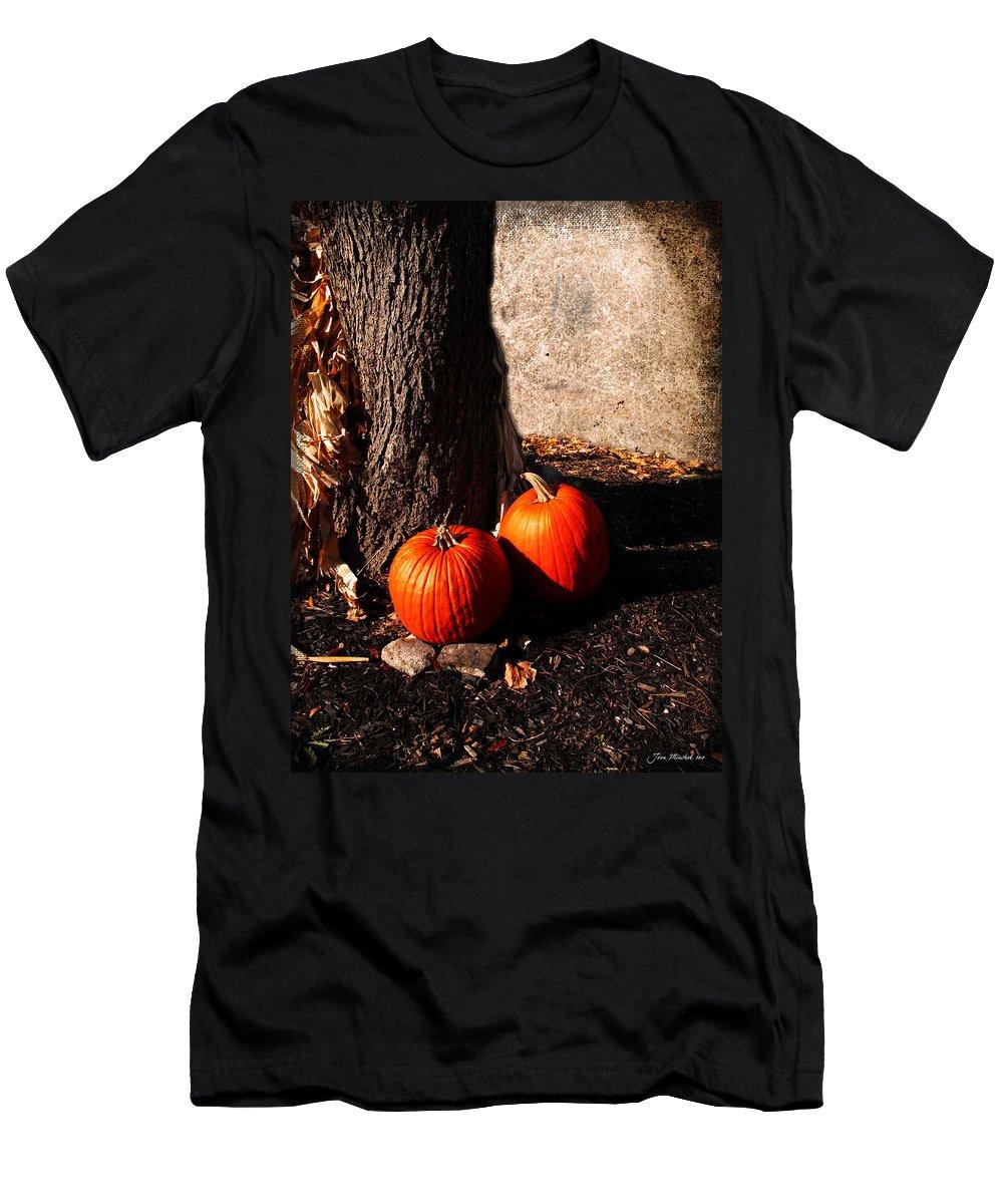 Autumn Men's T-Shirt (Athletic Fit) featuring the digital art Pumpkin Time by Joan Minchak