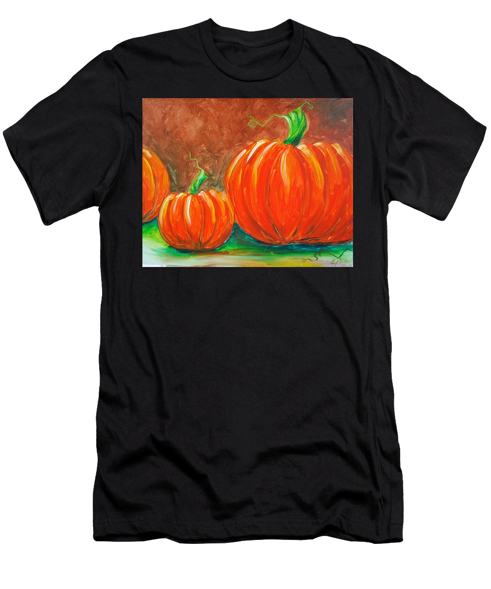 Pumpkin Men's T-Shirt (Athletic Fit) featuring the painting Pumpkins by Emily Page