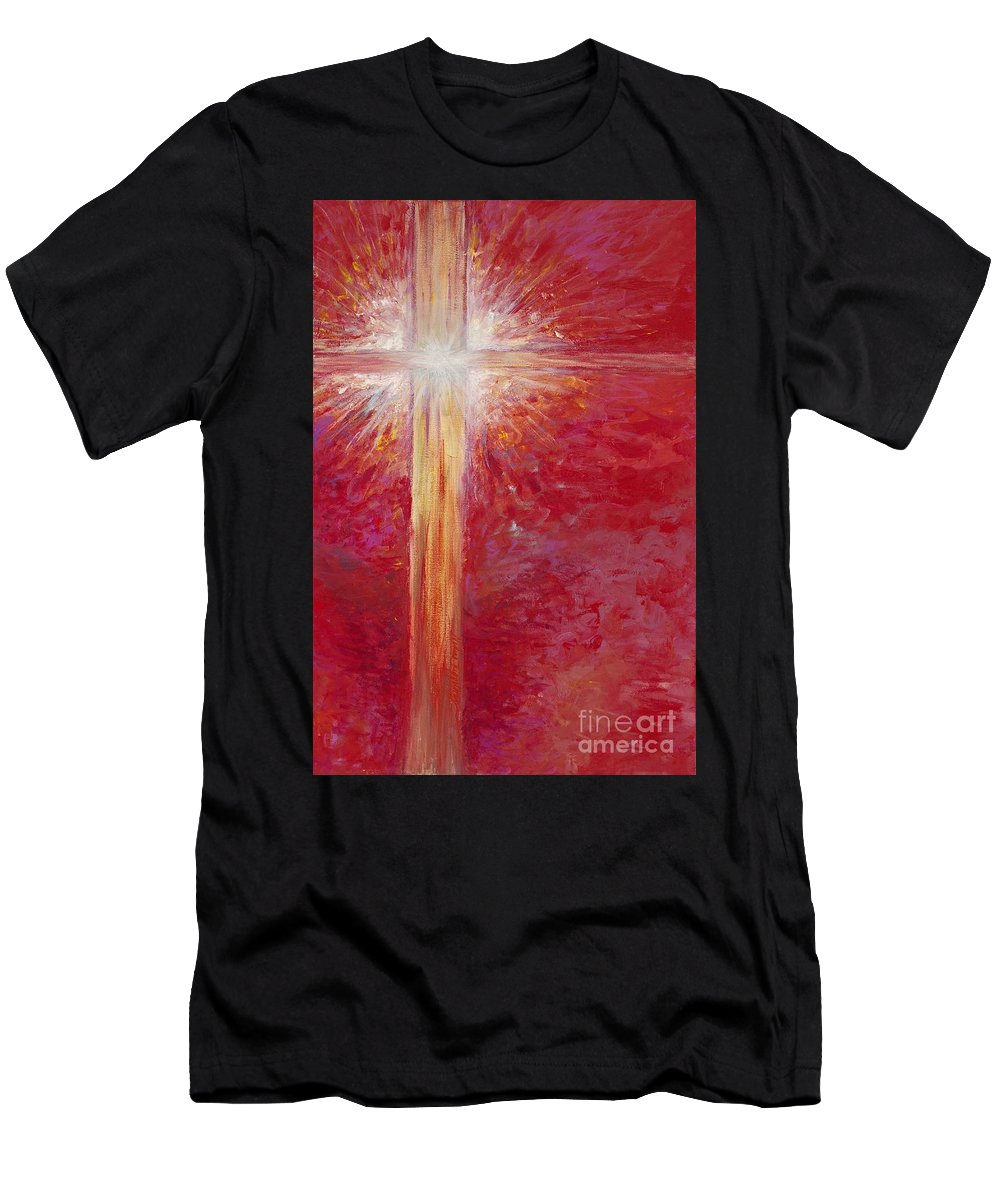 Light T-Shirt featuring the painting Pure Light by Nadine Rippelmeyer