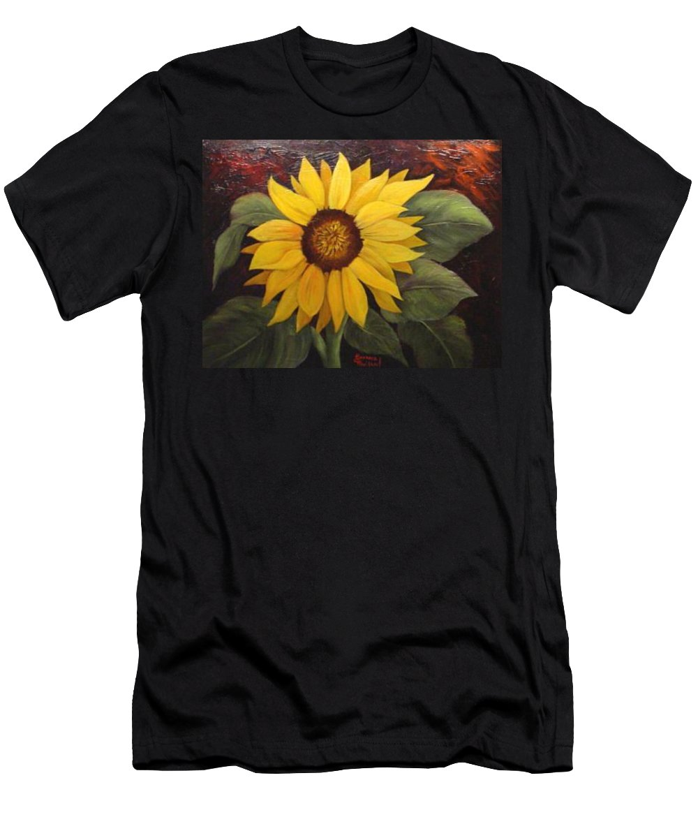 Still Life Men's T-Shirt (Athletic Fit) featuring the painting Pure Sunshine Sold by Susan Dehlinger