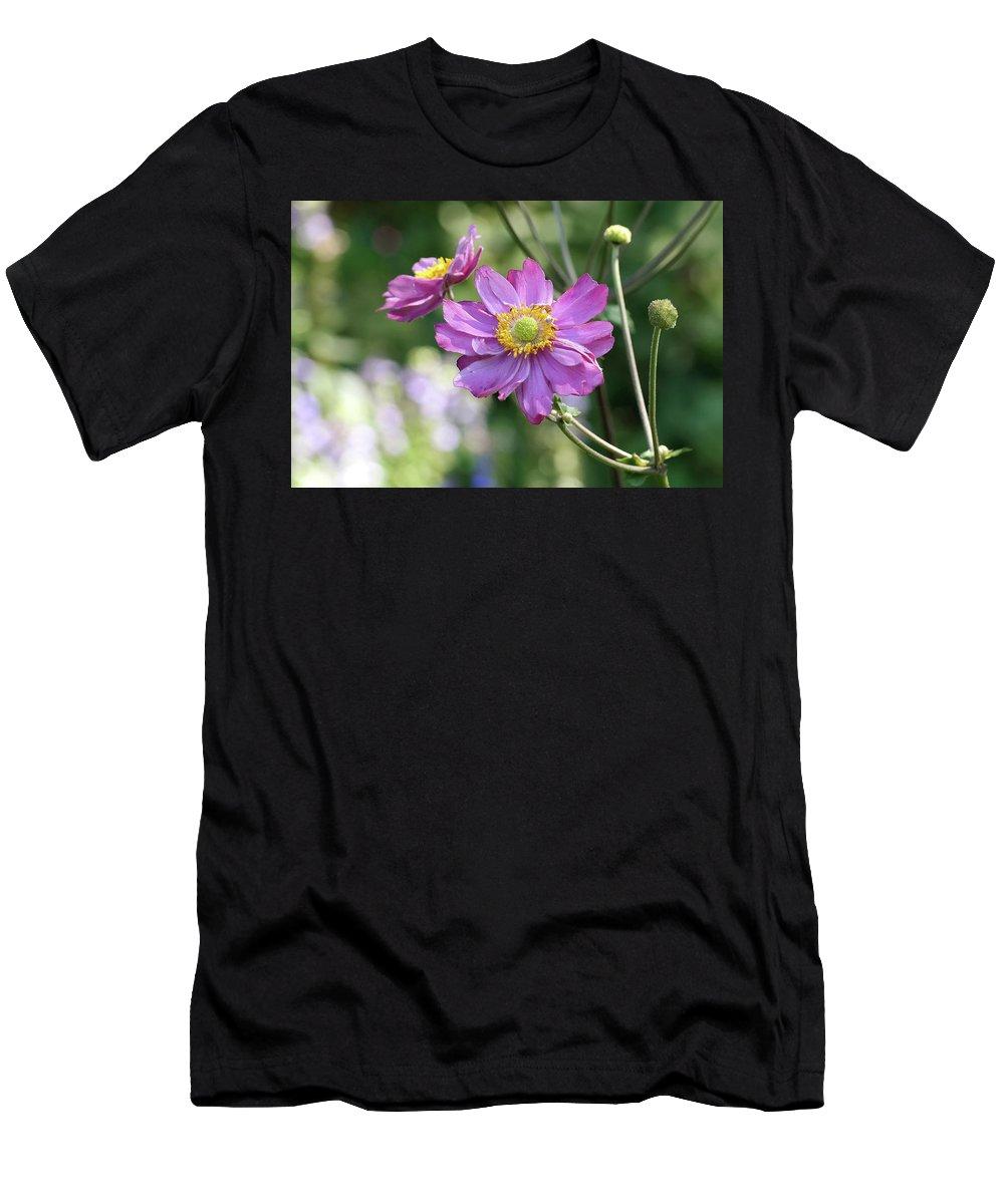 Purple Men's T-Shirt (Athletic Fit) featuring the photograph Purple Blossoms 2 by Nancy Aurand-Humpf