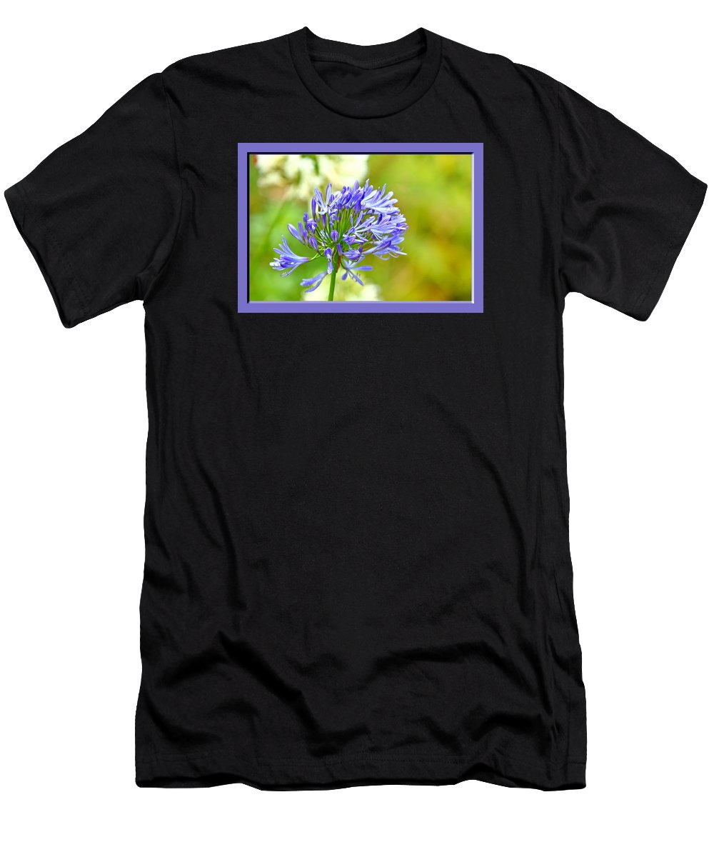 Flower Men's T-Shirt (Athletic Fit) featuring the photograph Purple by BYETPhotography