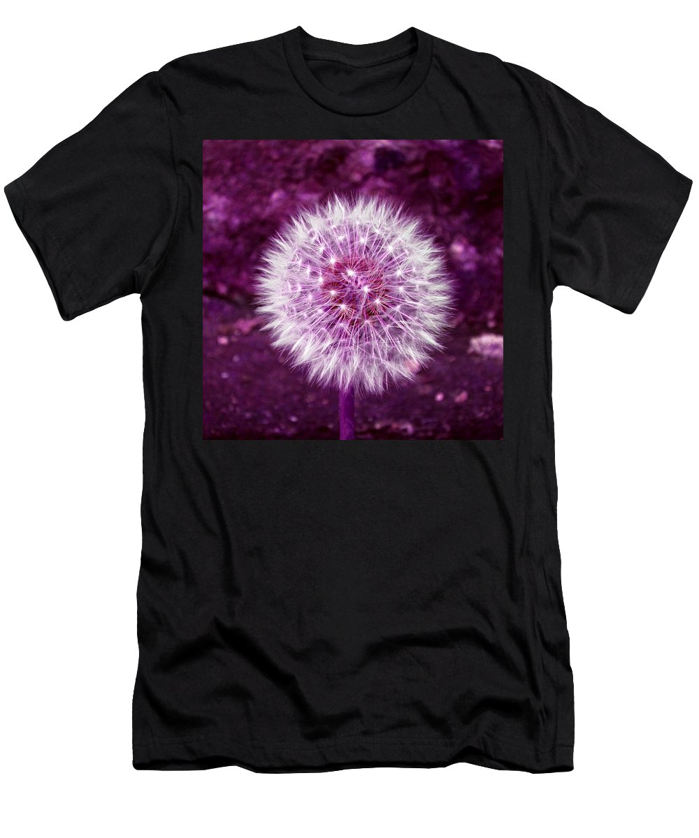 Dandelion Men's T-Shirt (Athletic Fit) featuring the photograph Purple Dandy by P Donovan
